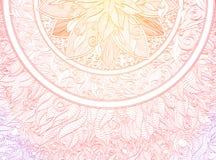 Ornamento della mandala Fotografia Stock