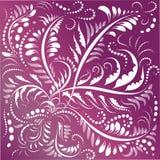 Ornamento della pianta Fondo d'annata con il motivo floreale illustrazione di stock