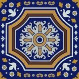 Ornamento della piastrella di ceramica Fotografie Stock