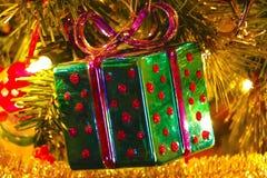 Ornamento della scatola di Natale Fotografie Stock