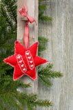 Ornamento della stella di natale Fotografia Stock