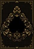 Ornamento della struttura dell'oro nello stile orientale Fotografie Stock Libere da Diritti