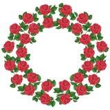 Ornamento delle rose rosse, elemento del disegno Fotografie Stock Libere da Diritti