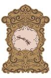 Ornamento di astrazione del modello dell'orologio Fotografie Stock Libere da Diritti