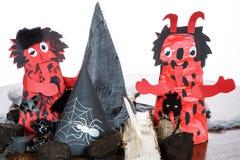 Ornamento di carta del diavolo Fotografia Stock