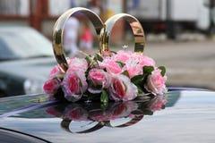 Ornamento di cerimonia nuziale per l'automobile Fotografia Stock