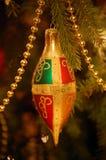 Ornamento di Chirtsmas dell'oro Immagini Stock