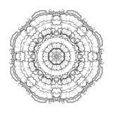 Ornamento di corallo grafico del cerchio Fotografia Stock Libera da Diritti