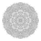 Ornamento di corallo grafico del cerchio Fotografie Stock Libere da Diritti