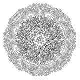 Ornamento di corallo grafico del cerchio Fotografia Stock
