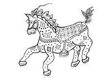 Ornamento di disegno del cavallo Immagini Stock Libere da Diritti