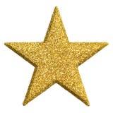 Ornamento di forma della stella in oro Fotografie Stock