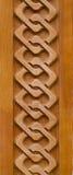 Ornamento di legno Fotografie Stock