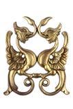 Ornamento di legno dorato antico Immagine Stock Libera da Diritti