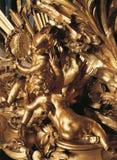 Ornamento di legno su mobilia al palazzo di Versailles Fotografia Stock