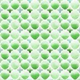Ornamento di Morrocan dei colori verdi su fondo bianco Modello senza cuciture dell'acquerello royalty illustrazione gratis
