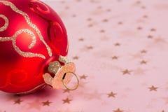 Ornamento di Natale Fotografia Stock