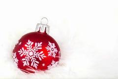 Ornamento di Natale del fiocco di neve Fotografie Stock Libere da Diritti