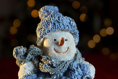 Ornamento di natale del pupazzo di neve Immagine Stock Libera da Diritti
