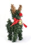 Ornamento di natale dell'albero della renna fotografie stock libere da diritti