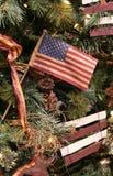 Ornamento di natale della bandierina degli Stati Uniti Immagine Stock
