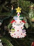Ornamento di Natale della famiglia Immagine Stock