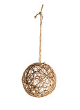 Ornamento di Natale della palla del filo isolato su bianco Fotografie Stock Libere da Diritti