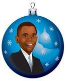 Ornamento di natale di Barack Obama nel vettore Fotografia Stock Libera da Diritti