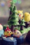 Ornamento di natale di Diy alla decorazione nella vacanza invernale Fotografia Stock Libera da Diritti