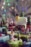 Ornamento di natale di Diy alla decorazione nella vacanza invernale Immagini Stock Libere da Diritti