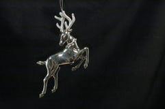 Ornamento di natale - renna d'argento Fotografia Stock