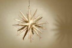 Ornamento di natale - stella bianca Fotografia Stock
