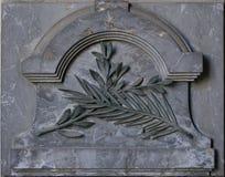 Ornamento di pietra (modello della foglia) Fotografia Stock