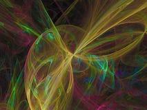 Ornamento di sogno decorativo etereo di fantasia del flusso numerico di rotazione astratta di rumore, esposizione di forma di eff illustrazione vettoriale