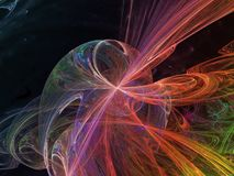 Ornamento di sogno decorativo etereo di fantasia del flusso numerico di rumore della superficie astratta di rotazione, esposizion royalty illustrazione gratis