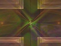 Ornamento di sogno decorativo etereo di fantasia del flusso numerico di rumore di illusione astratta di rotazione, esposizione di illustrazione vettoriale