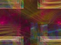 Ornamento di sogno decorativo etereo di fantasia del flusso numerico di rumore di lustro astratto di rotazione, esposizione di fo illustrazione di stock