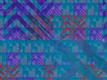 Ornamento di sogno decorativo etereo di fantasia del flusso numerico di rumore di profondità astratta di rotazione, esposizione d illustrazione di stock