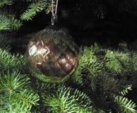 Ornamento di vetro dell'albero di Natale Fotografia Stock