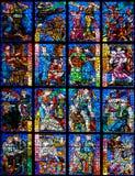 Ornamento di vetro macchiato Fotografia Stock