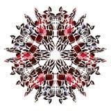 Ornamento di vettore del cerchio dell'acquerello Immagini Stock