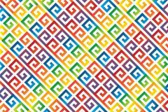 Ornamento diagonal do arco-íris do meandro ilustração royalty free
