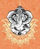 Ornamento Dio Ganesha illustrazione vettoriale