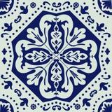 Ornamento do azulejo Ilustração do vetor Fotos de Stock Royalty Free