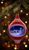Ornamento do boneco de neve Imagem de Stock