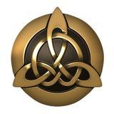 Ornamento do céltico do ouro fotografia de stock royalty free