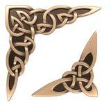 Ornamento do céltico do ouro imagem de stock