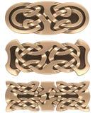 Ornamento do céltico do ouro imagens de stock royalty free