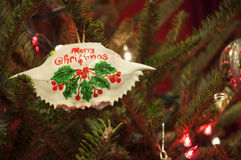 Ornamento do caranguejo de Maryland do Feliz Natal Imagem de Stock