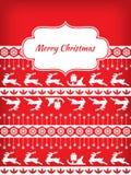 Ornamento do cartão de Natal Imagens de Stock Royalty Free